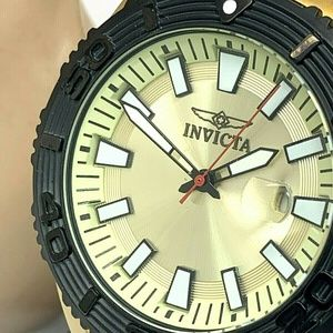 Invicta Pro Diver Men's Watch Gold Tone Dial Date